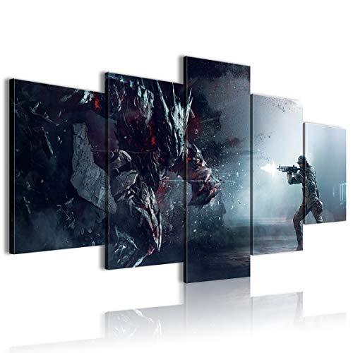CAFO Póster HD con imagen 3D Vision Cinco PanelRainbow Seis Asedio, diseño de escena de computadora enmarcada 100 x 50 cm