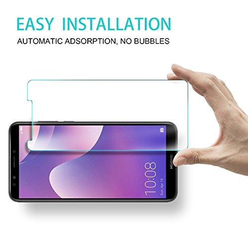 KuGi Huawei Y7 2018 Schutzfolie, 9H Panzerglas Hartglas Glas Display Schutzfolie [Blasenfrei] [HD Ultra] [Anti-Kratzer] Displayschutz Für Huawei Y7 2018 / Prime 2018 Smartphone. Klar [2 Pack] - 4