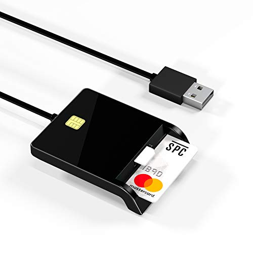 Arkidyn Lettore di Smart Card, Lettore di Schede SIM, CAC Card Reader USB Dod di concezzione Militare per L'Accesso Intelligente per Accesso Pubblico/Carta D'identità/SIM/IC Bank Chip Card