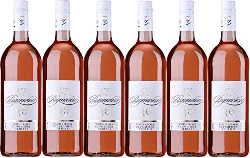 Weingut Rogenwieser Kirchheimer Schwarzerde Portugieser Weißherbst QbA lieblich (6 x 1,0L)