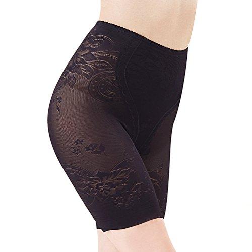 Tinksky Frauen Kurze Gamaschen Breathable Unterwäsche Shorts Boyshort Panty unter Rock Shorts für Kleid Größe XXL (schwarz)
