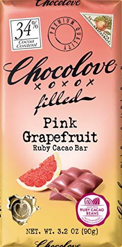 Chocolove, Chocolate Bar Large Grapefruit Filled, 3.2 Ounce