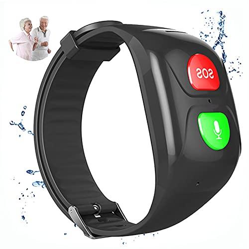 URJEKQ Smartwatch para Ancianos Reloj Inteligente Pulsera Actividad con Fitness Tracker Cronómetro Monitor de Sueño IP67 Impermeable Reloj de Fitness para Mujer Hombre Niño,Negro