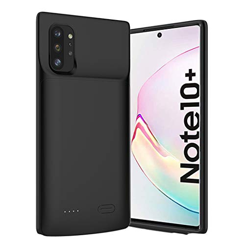 Battery Case for Galaxy Note 10 Plus , 6000mAh Portable Charging Case for Samsung Galaxy Note 10 Plus Rechargeable External Battery Pack Extended Battery Protective Charger Case (6.8 inch)-Black