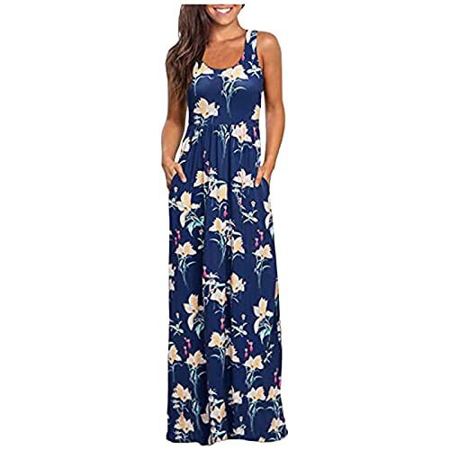 ZSNB Womens Cocktail Party Evening Dress,Summer Floral Graphic Printed Maxi Sundress,Sexy Bohemian...
