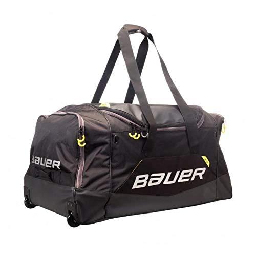 Bauer S19 Elite Wheel Junior Eishockeytasche, Schwarz