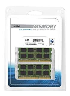 Crucial 8GB Kit (4GBx2) DDR3 1600 MT/s (PC3-12800) SODIMM 204-Pin Memory for Mac - CT2C4G3S160BMCEU (B008PSL89Q) | Amazon price tracker / tracking, Amazon price history charts, Amazon price watches, Amazon price drop alerts