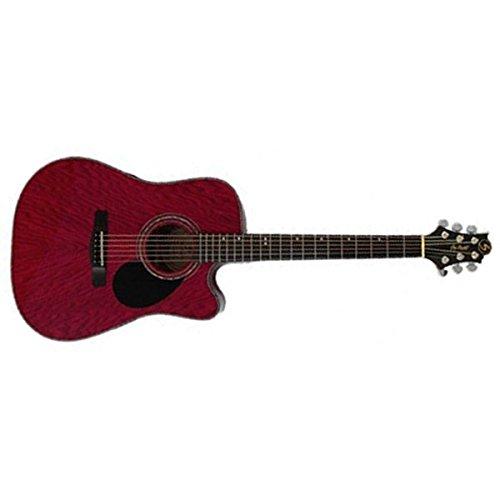 Samick Greg Bennett Design D4CE Acoustic Guitar, Transparent Red