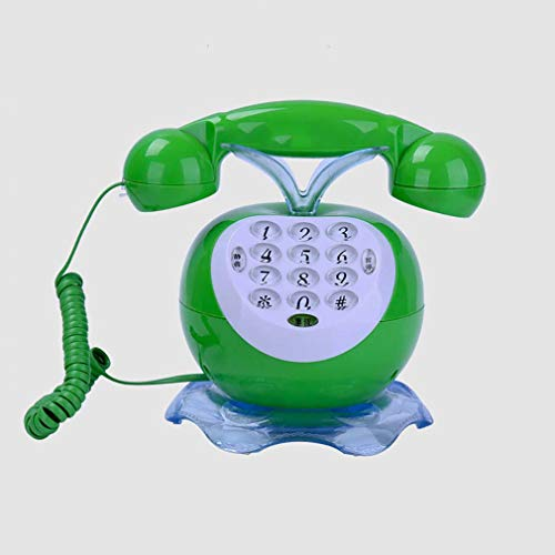 ZJUAN Creatividad Encantador Línea Terrestre con Cable,Tono Electrónico Llamada Cómoda Teléfono Fijo,Salón Dormitorio Decoración del Hogar Teléfono con Cable C