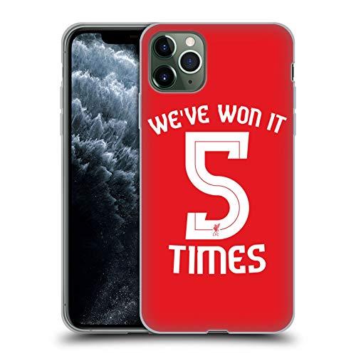 Head Case Designs Oficial Liverpool Football Club Camisa Núm. 5 Ganó Lo 5 Veces Carcasa de Gel de Silicona Compatible con Apple iPhone 11 Pro MAX