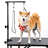 "Breeze Touch Dog Grooming Table Arm - 35"" Dog Grooming Stand with Clamp and Post, Loop..."