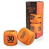 Phoenix Fitness RY1051 Exercise Dice - Fitness Workout Routine Dice, Orange