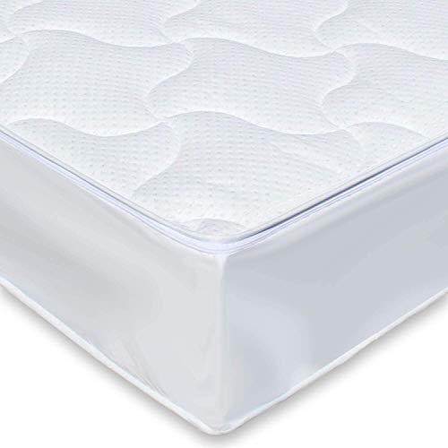 Traumreiter Silver Wasserbett Bezug Wasserbett Auflage mit Reißverschluss und Spannumrandung I Wasserbettauflage Wasserbettbezug Wasserbett-Überzug Matratzenauflage (200 x 220 cm)