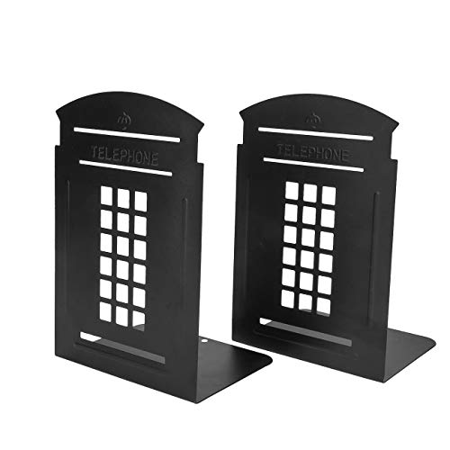 Non-Slip Bookends, MerryNine 1 Pair Heavy Metal Non Skid Sturdy Telephone...