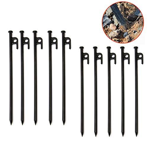 ZDYLM-Y Heringe Zeltheringe, Heavy Duty geschmiedeten Stahl Heringe Unbreakable und unflexibel, für den Außenbereich Bergsteigen/Wandern Camping,30cm