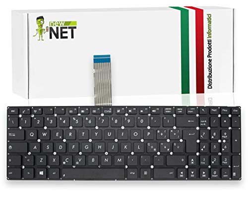 New Net Keyboards - Tastiera ITALIANA compatibile per Notebook Asus F550C F550L F550W F550LD F550LN F552W F552 x552c X552L K550J K550JF K550VX P550C X501 F550c X501U X501XE K550CA K550JD