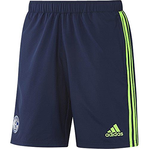 adidas Herren Schalke 04 Shorts, Dark Blue/Solar Green, XL