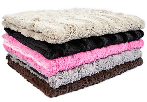 CopcoPet Hundedecke Cheyenne ca.100 x 80cm, Beige, waschbare Fleecedecke Hund, dicht gewebte Tierdecke, kuscheliger Schlafplatz für Hunde & Katzen