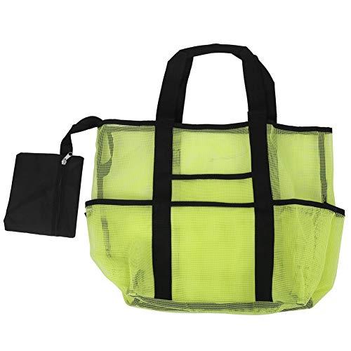 YOIM Organizador de Playa, Bolso de Playa Impermeable con 8 Bolsillos Grandes para Viajar(Green)