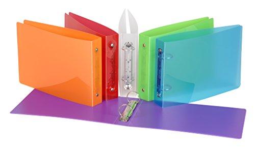 Viquel 907083–08–Carpeta con 2anillas para tarjetas en Propyglass 15x 21cm colores aleatorios