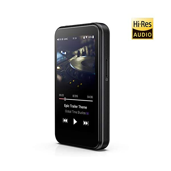 High Resolution Lossless MP3 Music Player with HiFi Bluetooth aptX HD/LDAC, USB Audio/DAC,DSD/Tidal/Spotify Support and WiFi/Air Play Full Touch Screen 4