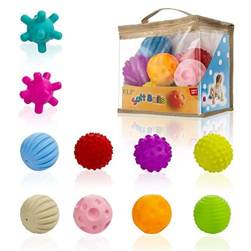 Comius Sharp 10 Pezzi Palline Sensoriali per Bambini Palline Multi Sensoriali Testurizzate, Palla per Spremere Morbide Baby Ball per Bambini, Giocattoli Educativi