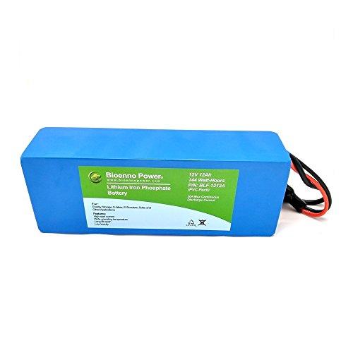 Bioenno Power 12V, 12Ah LFP LiFePO4 Lithium Iron Phosphate Battery (PVC, BLF-1212A)