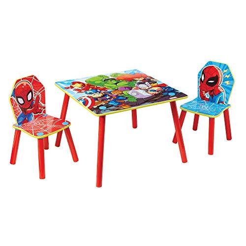 Worlds Apart Marvel Superheroes Spider-Man-Conjunto Infantil de Mesa y Dos sillas, 52 .5 x 63 x 63