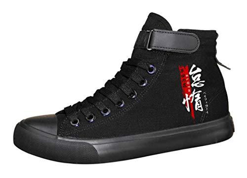 WANHONGYUE The Seven Deadly Sins Anime Unisexe Chaussures en Toile à Lacets Baskets de Mode Sneakers Plimsolls 35 EU Noir 4