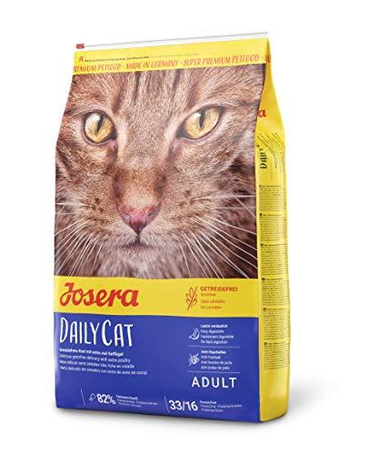 JOSERA DailyCat, vrij van gedierte kattenvoer met gevogelte, kruiden en vruchten, super premium droogvoer voor volwassen katten, per stuk verpakt (1 x 10 kg)