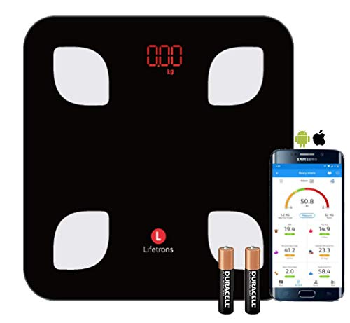 Lifetrons Smart Body Composition Digital Weighing Scale and...