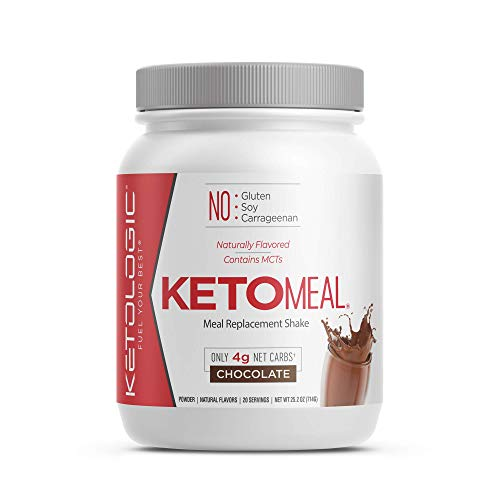 KetoLogic Keto Meal Replacement Shake Powder: Chocolate (20 Servings) – Low Carb, Keto Shake Rich in MCT Oil, Healthy Fats and Whey Protein - Formulated Macros Support Keto Diet & Ketosis (Chocolate)
