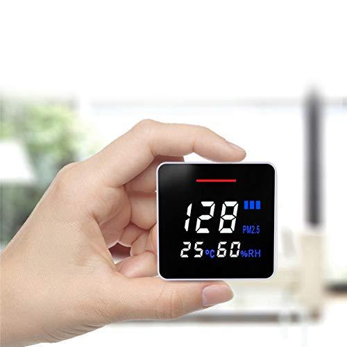 RSTJ-Sjap Portable PM2.5 Temperatur- Und Feuchtigkeitsdetektor, Multifunktionaler Luftqualitätsdetektor Für Home Office Und Verschiedene Anlässe Wiederaufladbar