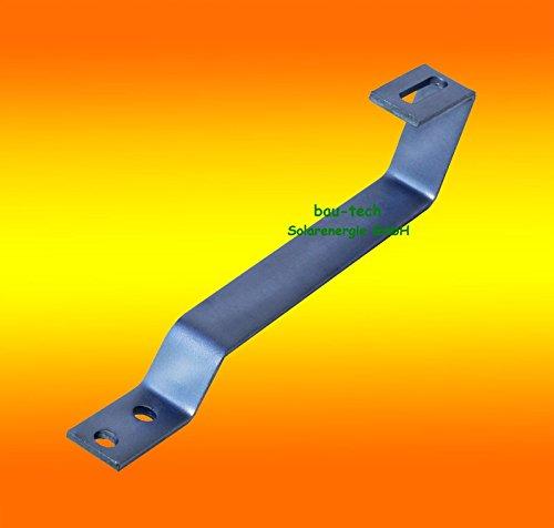 4 Stück Edelstahl - Dachhaken A2 für Biberschwanz, Ziegel, Dachstein von bau-tech Solarenergie GmbH