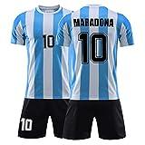 Maradona Nr. 10 Fan Jersey, Argentinische Fußballuniform klassisches Fußball-T-Shirt, das 1986 die Meisterschaft gewann, Fan Memorial und Beste Sammlung 5XL