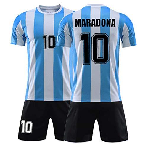 Maradona Nr. 10 Fan Jersey, Argentinische Fußballuniform klassisches Fußball-T-Shirt, das 1986 die Meisterschaft gewann, Fan Memorial und Beste Sammlung 3XL