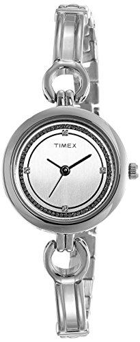 Timex - Reloj analógico con esfera blanca para mujer - TWEL11400