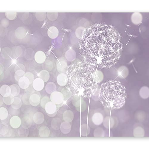 murando Fototapete 400x280 cm Vlies Tapeten Wandtapete XXL Moderne Wanddeko Design Wand Dekoration Wohnzimmer Schlafzimmer Büro Flur Pusteblume Blumen bokeh Abstrakt violett Lavendel f-C-0040-a-c