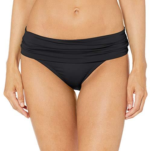 La Blanca Women's Island Goddess Shirred Band Hipster Bikini Swimsuit Bottom, Black, 12