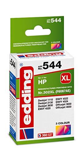 Edding Tintenpatrone Edd-544 Ersetzt HP 302XL (F6U67AE) - 3-farbig - 16 ml