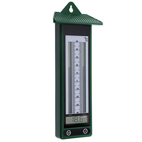 Digital max min termómetro diseño clásico en verde -40A + 50°C