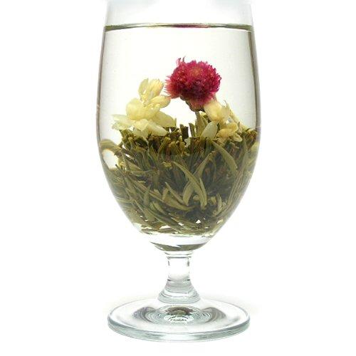 お花が開く幸せ工芸茶 ハッピーハート 6個入り 中国茶葉 花茶 ジャスミン茶 ジャスミンティー