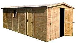 Blockbohlen Holzgarage