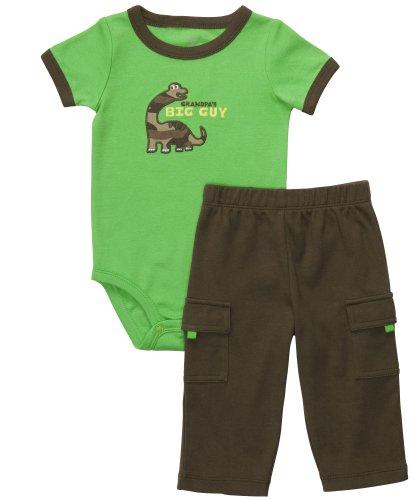 Carter S Parure Combinaison Body Pantalon Jeune Boy été Outfit Set 2 pièces - Vert - 62 cm/68 cm