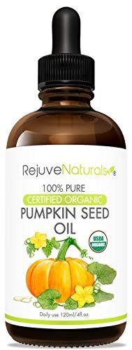 Organic Pumpkin Seed Oil (LARGE 4-OZ Bottle) USDA Certified...