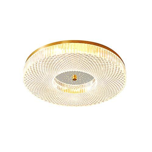 KTDT Lámpara de Techo LED Moderna para Montaje Empotrado, lámpara de Techo de latón Cepillado de 16 Pulgadas, lámpara de Techo Ultrafina Regulable para Entrada, Cocina, baño, Dormitorio, Cambio d