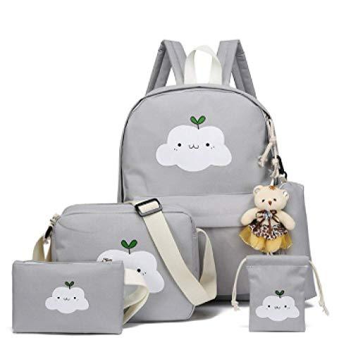 MRLXQ Canvas Bag 5 stuks/set van dames rugzak schooltas elegant en mooi en duurzaam je verdient