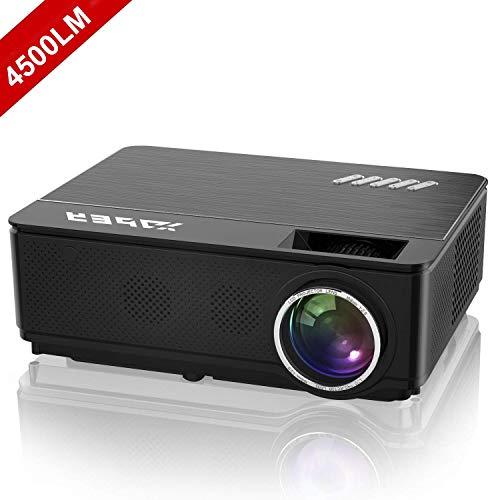 YABER Vidéoprojecteur 4000 Lumens Soutien 1080P Full HD Home Cinéma Projecteur LED avec Deux Haut-parleurs Stéréo (de Qualité HiFi - Haute-fidélité) et 3 Ventilateurs Intégrées, 200' Affichage