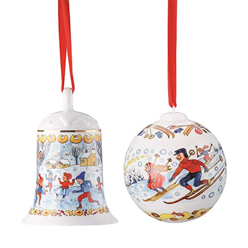 Hutschenreuther Porzellan Weihnachts Glocke 2018 und Weihnachts Kugel 2018