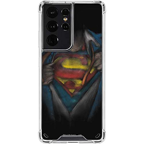 Skinit Clear Phone Case Compatible with Samsung Galaxy S21 Ultra 5G - Officially Licensed Warner Bros Superman Chalk Design